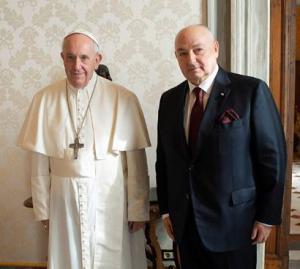 Вячеслав Моше Кантор обсудил с Папой Франциском возможность посвятить один из следующих Форумов памяти Холокоста этике и морали