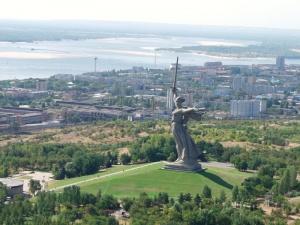 Волгоград - единственный город в России, кому достался Почетный Флаг Совета Европы