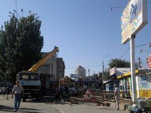 Власти Волгограда сносят павильоны наПривокзальной площади
