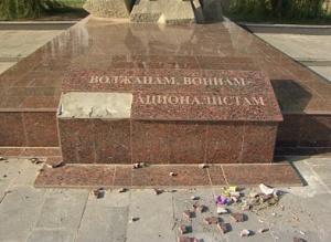 ВВолжском осквернен памятник воинам-интернационалистам